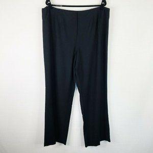 Eileen Fisher Black Viscose Wool Stretch Pants 2X